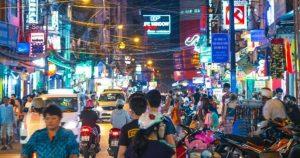 Saigon Street at Night