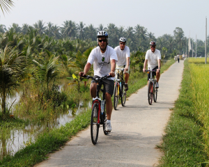 Mekong River Cycling full day tour