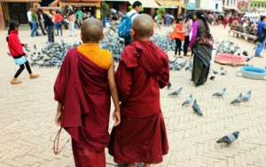 Little Buddhist Monks at Patan Durbar Square