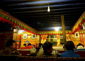 Dining Room in Rongbuk Monastery Guesthouse